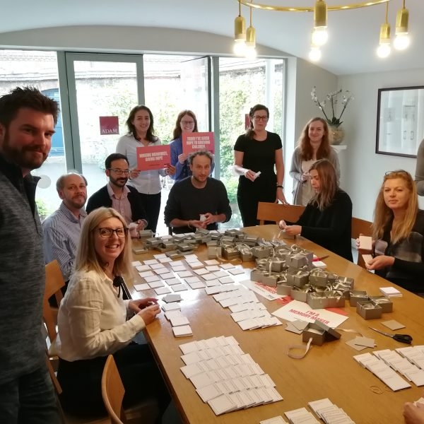 ADAM staff help make Memory Boxes for Winston's Wish